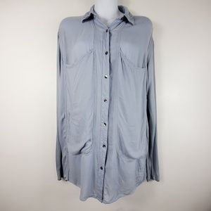 Free People Rayon Button Down Tunic